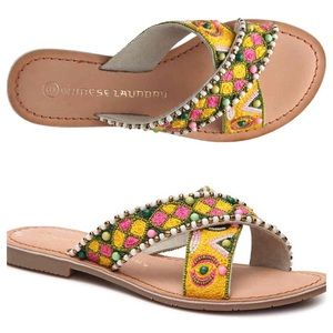 Chinese Laundry Chari embroidered beaded sandals